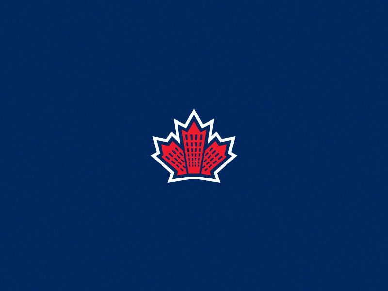 Renting Toronto Logomark renting canada building condo hotel leaf maple toronto branding icon logomark logo