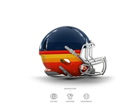 Astros Football Helmet 8 of 30
