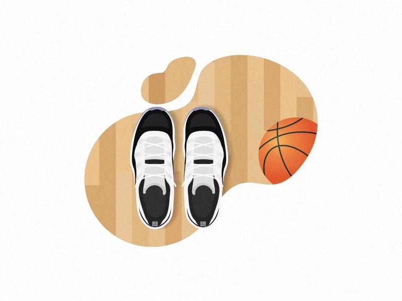 Basketball Shoes grain wood flat 2d overhead court texture illustration xi shoes basketball jordan