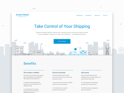 Shipping Solution Landing Page