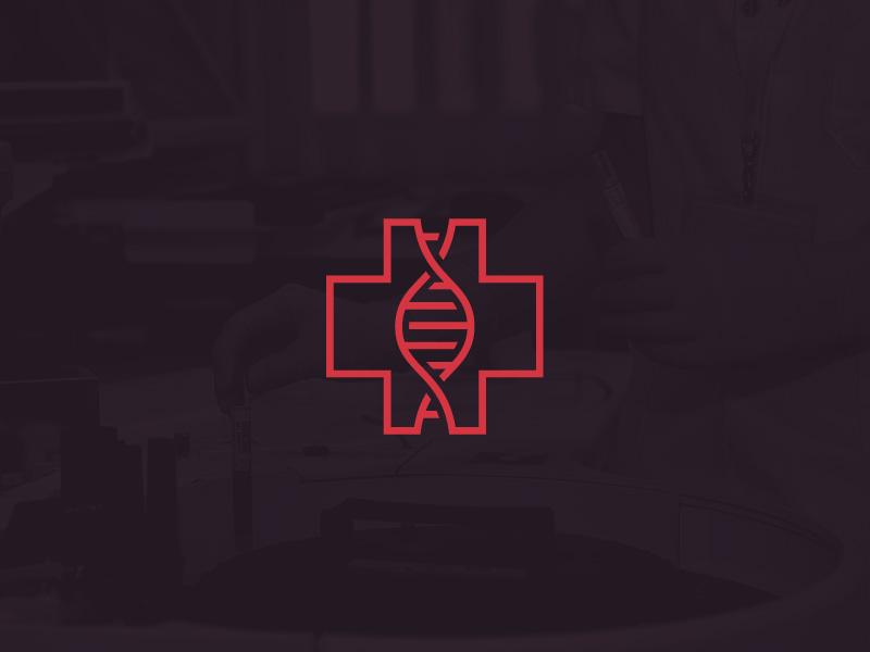 DNA Medical Logo II dr doctor branding strand medicine logo simple clean line hospital medical dna