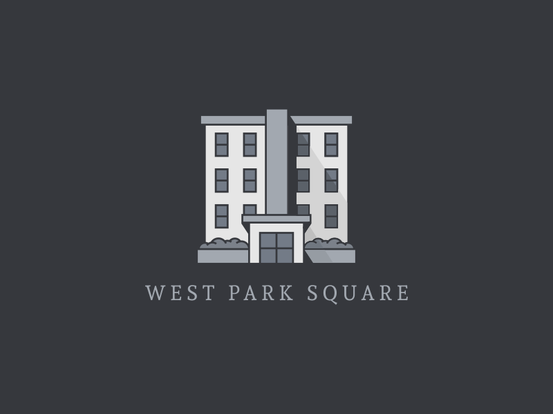 West Park Square residence real estate mark branding logo architecture illustration home inn building hotel apartment