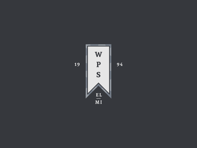 West Park Square pt. II vertical established typography banner design lockup years icon branding logo crest badge