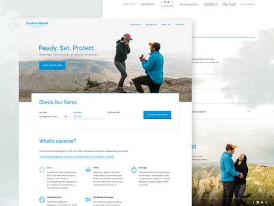 Engagement Landing Page