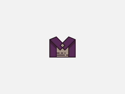 M Crown Logomark queen king gold purple royalty royal vector icon logomark logo crown m
