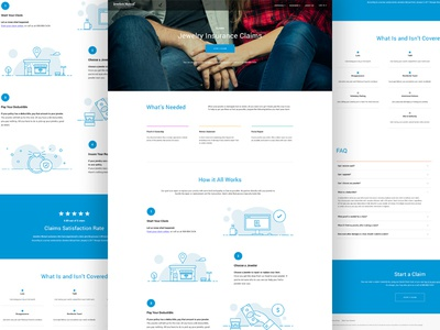 Claims Landing Page
