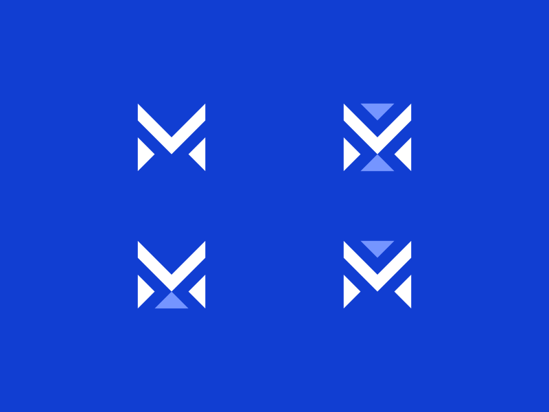 M Lettermark Exploration type logo minimalism identity branding icon abstract letter mark logomark lettermark m