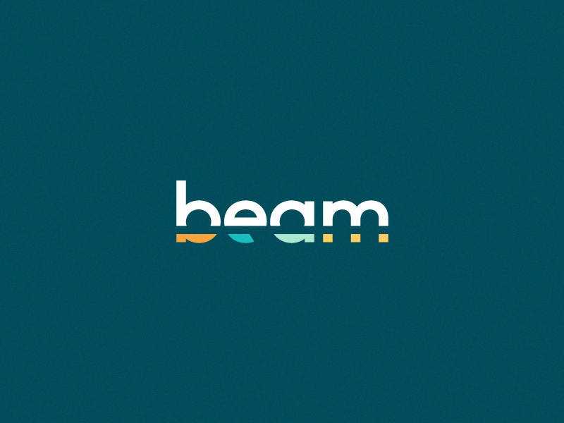 Beam Unused Logo clean vibrant bright identity branding logo colorful light sunlight sun wordmark beam