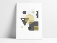 Geometric Metallic Gold Poster