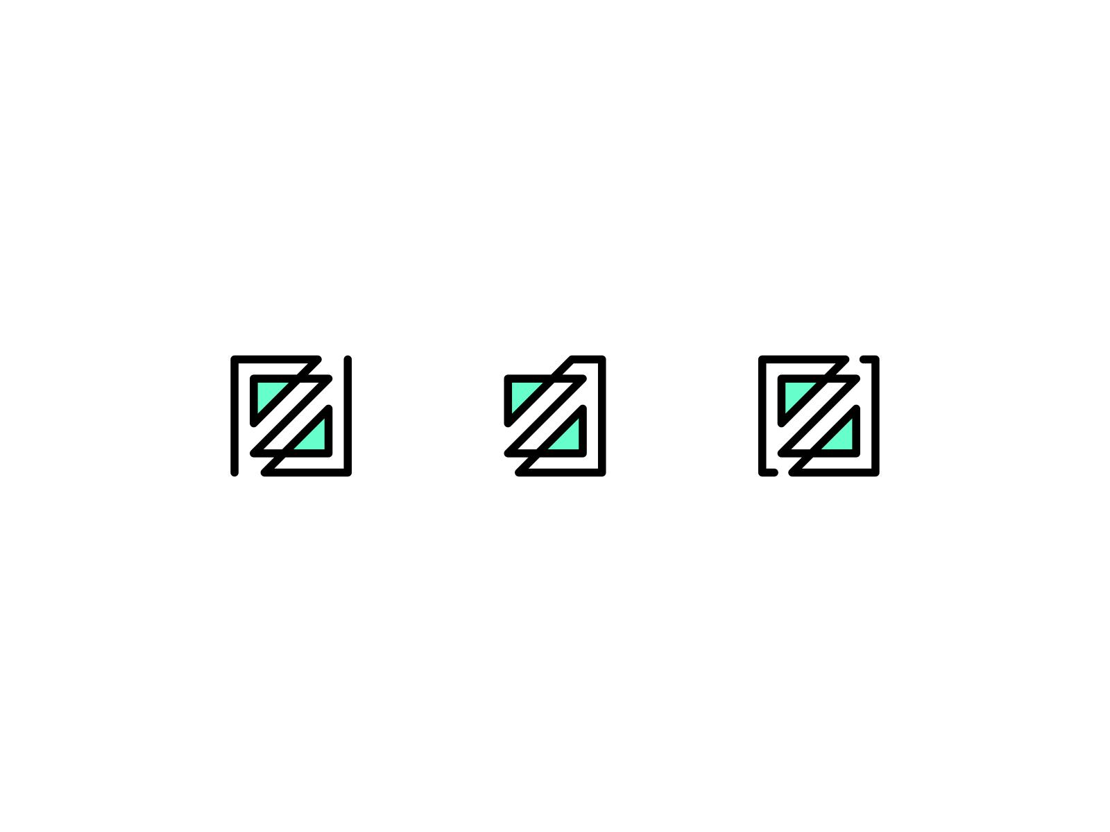 Z Mark various multiple design ambigram aqua teal visual logo lettermark zag zig art line abstract identity branding mark box letter z