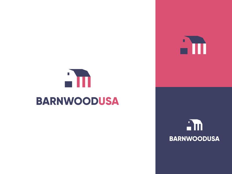 Barnwood USA Logo - Unused mark american negative space barnwood patriotic blue white red identity unused logo rustic reclaimed decor home wood united states usa america barn