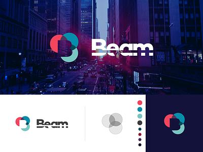 Beam - Logo agency wisconsin sunrays mark overlapping circles colorful wordmark branding combination optimal bright focal focus ray sunlight light sun logo beam