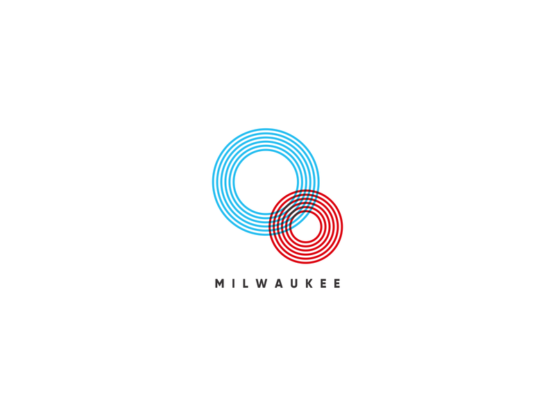 Oo Logo 00 0 overlapping lines thin circles circular line design branding unused throwback blue red retro logomark mark logo oo o