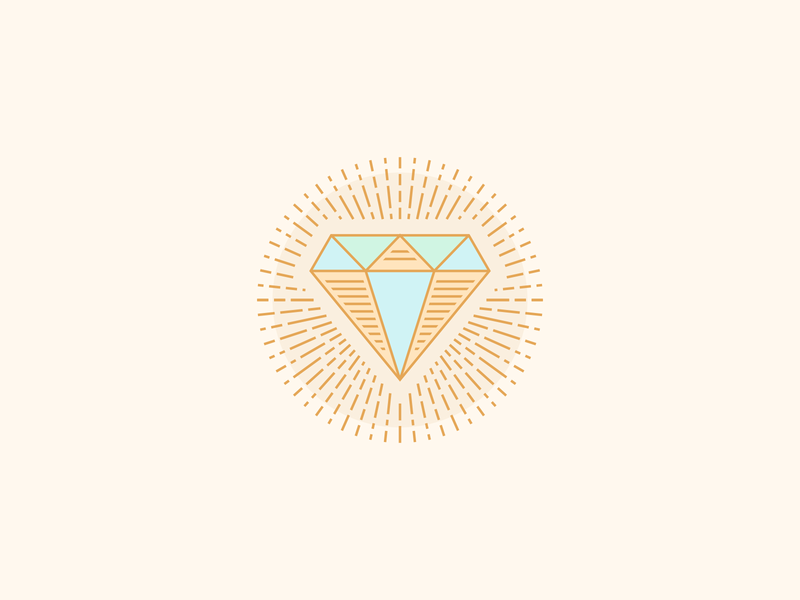 Circular Line Diamond design rebound circle circular bling jewelry beam radiant beaming rays ray vintage vector logo line illustration icon engraved badge diamond