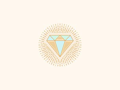 Circular Line Diamond design rebound circle circular bling jewelry beam radiant beaming rays ray vintage vector logo line illustration icon engraved badge diamond