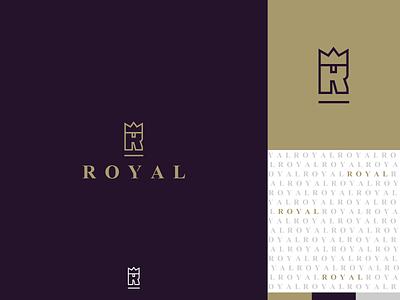 Royal Logo - Unused design vector identity mark underline branding illustration icon letter r r letter lettermark logo queen king royalty gold purple crown royal