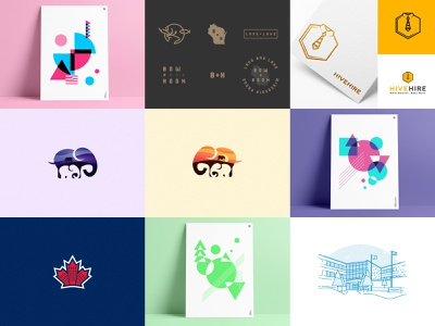 Top 9 of ... 2017? top vector branding icon design year in review year anthony agrib print poster line art illustrations illustration logos logo abstract shots 2017 top 9