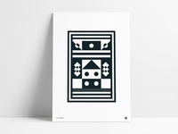 Geometric Abstract Pattern Poster