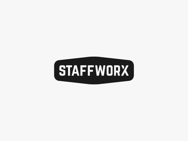 Staffworx Wordmark - Unused 2 unused career job agency employment mark icon design clean simple typogaphy wordmark logomark logo crest badge works staff staffing staffworx
