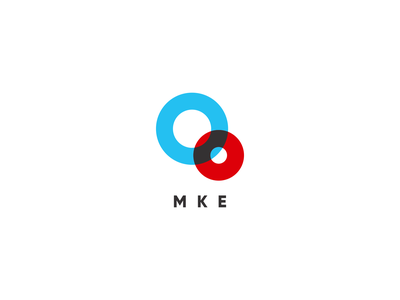 Oo Mke Simplified Responsive Logo 00 0 oo o branding circles circular retro blue red responsive logo responsive responsive branding logo agrib logomark overlapping throwback mark mke