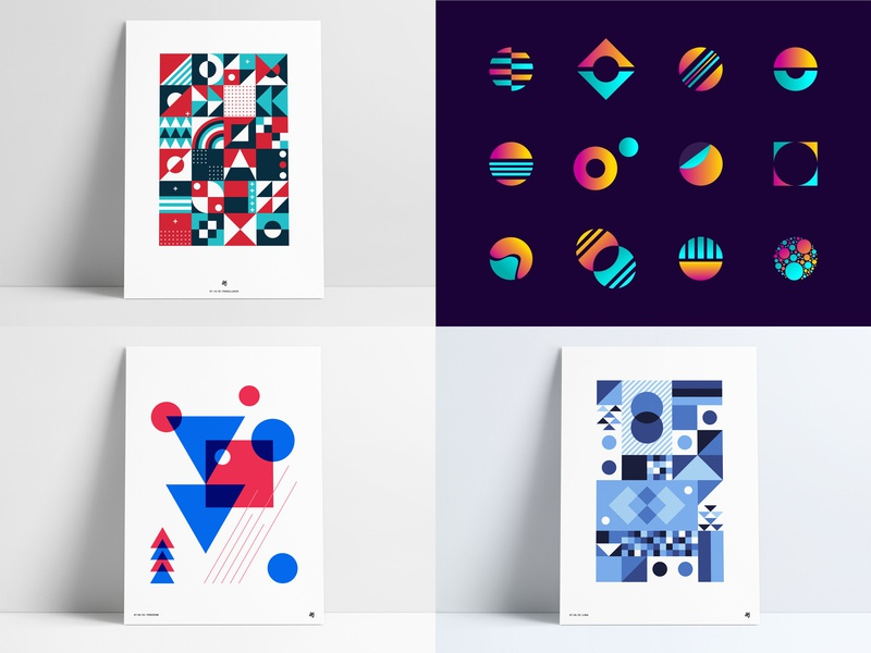 2018 geometric abstract designs design art icons poster posters top4shots posts likes liked review year year in review shots anthony agrib 2018 top 4