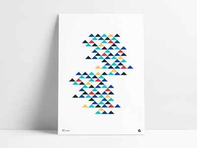 Negative Space Triangle Poster