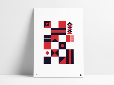 Poster 22 - Red and Purple artwork simple shapes pattern block squares blocks purple red agrib print wall art poster art art design geometric art geometric abstract art abstract poster