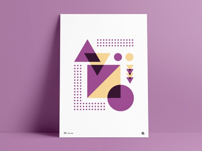 Poster 23 - Purple & Gold pattern shapes wall art print poster dots circles squares triangles agrib gold purple geometria geometric art geometric design geometric abstrack abstract art abstract design abstract