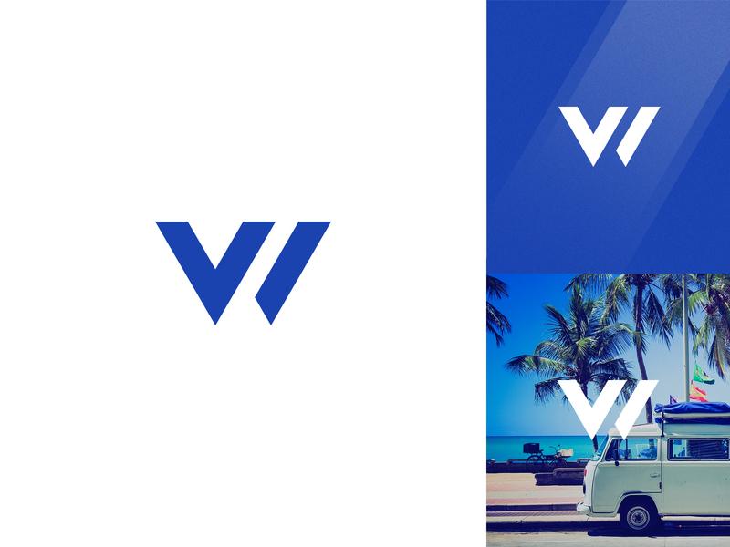 VW Volkswagen Logo branding illustration icon design mark blue concept exploration automobile auto car volkswagon volkswagen letter lettermark w v vw logo for fun
