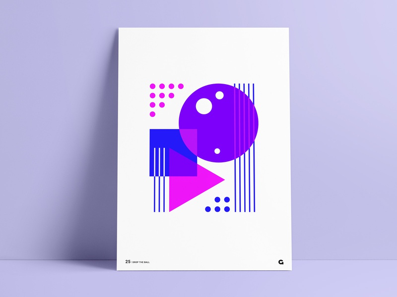 Poster 25 - Abstract Geometric design purple blue pink colors color inverted inverse geometry agrib negative space triangle square circle print design print poster wall art art geometric
