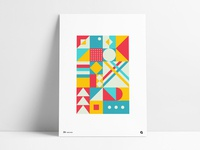 Poster 26 - Red, Yellow and Aqua