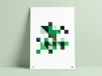 #30 - Minecraft Inspired Geometric Poster