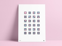 #32 - Geometric Containers Poster