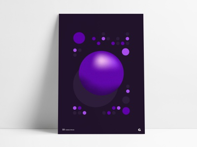 Poster 33 - Purple Circular Geometric anthony shadow grain texture shades purple poster challenge poster a day wall art print poster abstract agrib circular circle gradient ball buttons lights panel