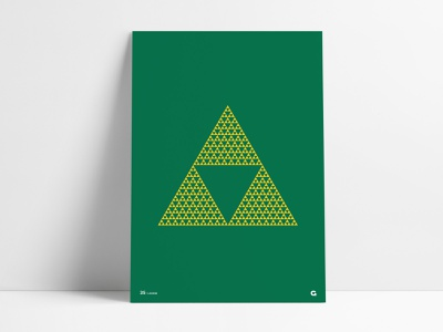 Poster 35 - Triforce poster collection shield classic nes nintendo tri-force triforce force tri legend of zelda legend zelda gold yellow green print wall art poster agrib geometric