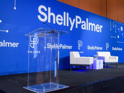 Shelly Palmer CES Vegas 2019 show printed material print design agrib backdrop booth design tradeshow trade show technology electronics consumer electronics show ces convention center las vegas vegas palmer group palmer shelly shelly palmer