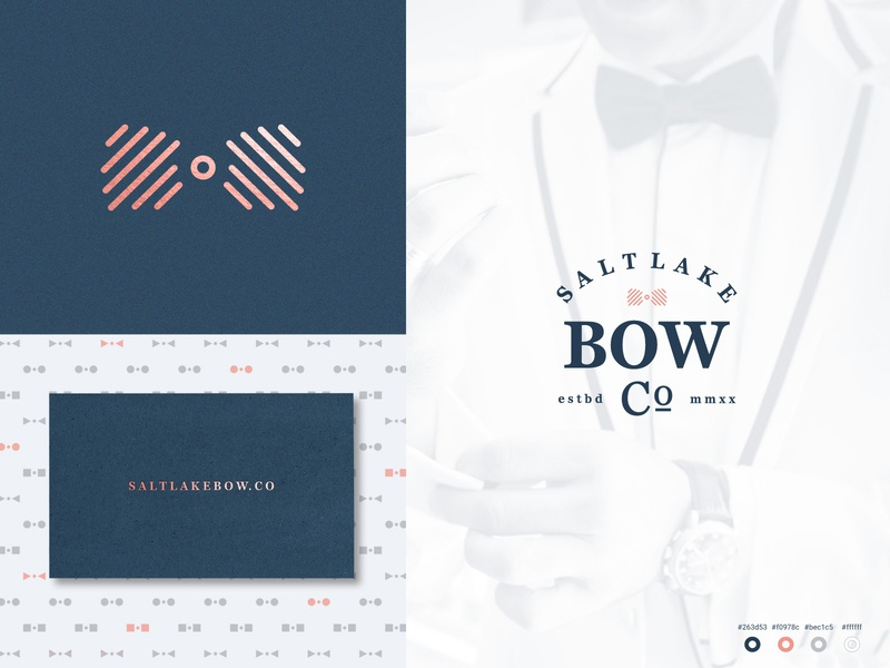 Salt Lake Bow pt II business card design business card badge logo badge geometric pattern line art design anthony gribben agrib anthony branding logo fashion bowtie bow-tie bow tie bow salt lake city salt lake