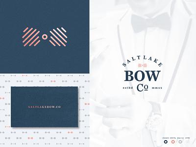 Salt Lake Bow pt II business card design business card badge logo badge geometric pattern line art design anthony gribben agrib anthony branding logo fashion bowtie bow-tie bow tie bow salt lake city salt lake