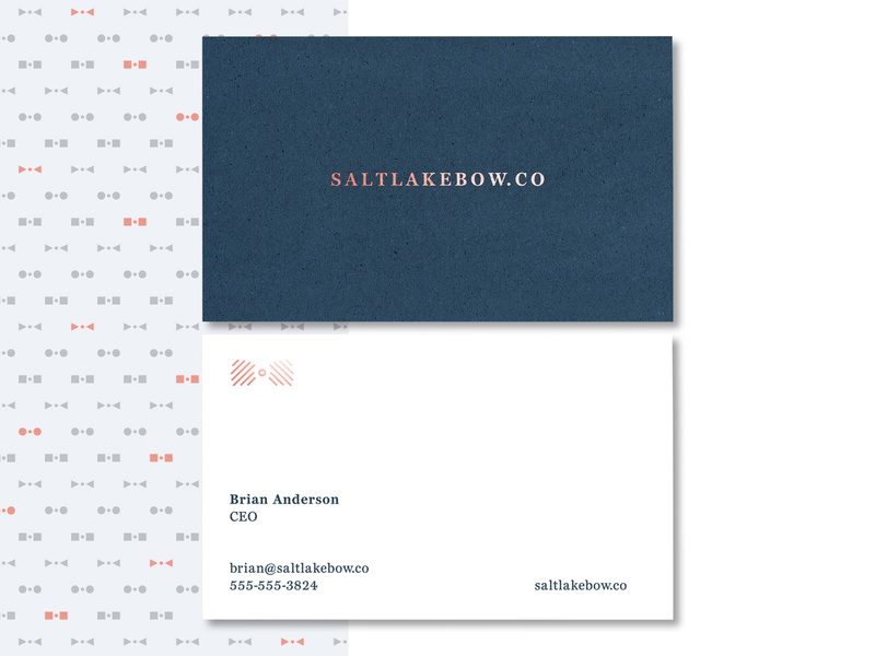 Salt Lake Bow pt III bizcard biz card print and pattern print branding anthony gribben agrib bow-tie bowtie bow tie salt lake bow salt lake city elegant clean classy classy business card elegant business card clean business card business card design business card