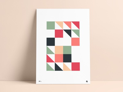 Poster 44 - Geometric Blocks print and pattern pattern triangles squares poster challenge poster collection print poster print poster art poster design geometric print wall print wall art agrib abstract design abstract art geometric design geometric illustration geometric art geometric