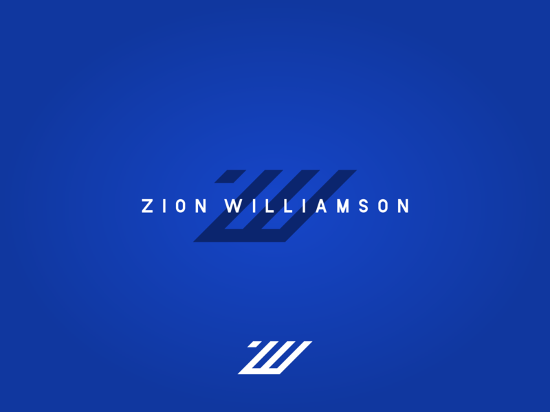 ZW Zion Williamson Logo zion zion williamson duke nba nba logo logo player logo basketball agrib branding ncaa hoops lettermark mark exploration nike adidas reebok puma zw