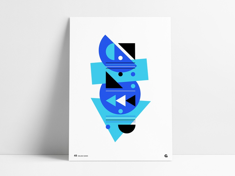 Poster48 - Geometric Retro poster series corel draw coreldraw poster art bright design colorful design retro design retro poster shape poster shapes shape custom art wall art geometric art geometric abstract geometric agrib poster designer poster design blue poster