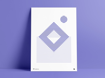 Poster49 - Abstract Diamond diamond alternating shades of purple design inverted squared square geometric geometric art abstract art abstract striped poster striped print print poster striped purple purple print purple poster agrib