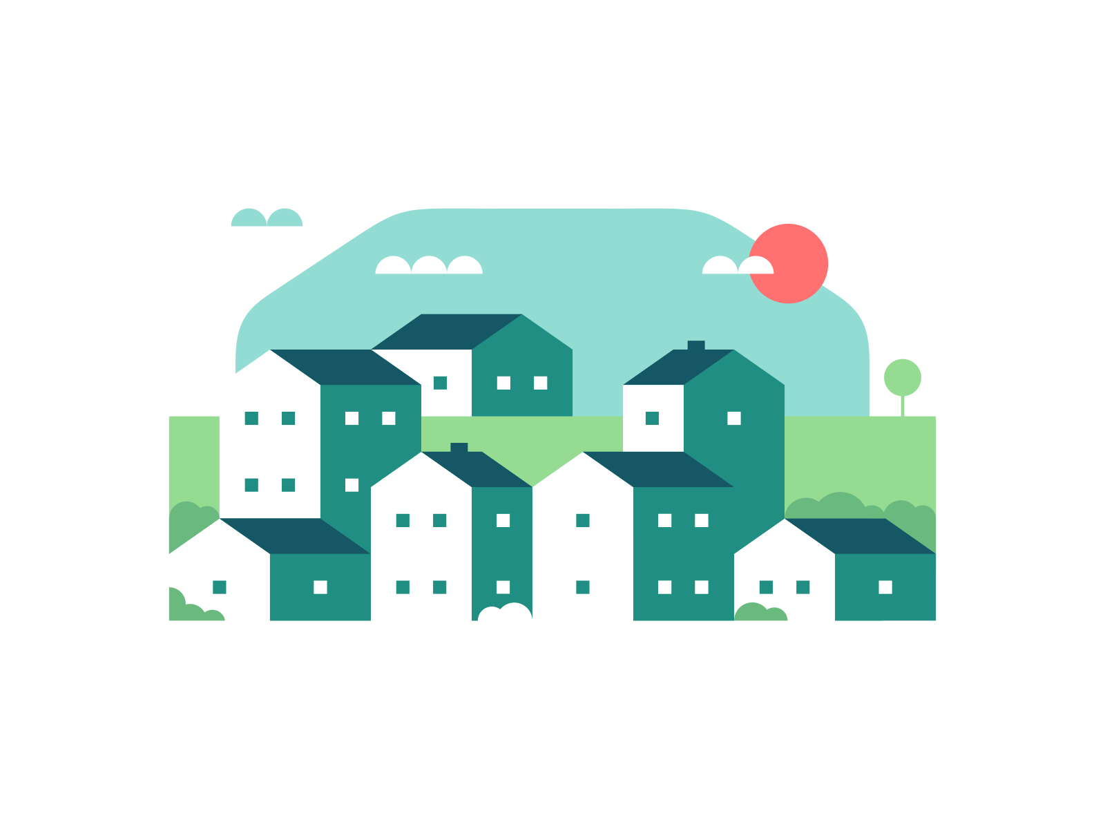 Country town illustration