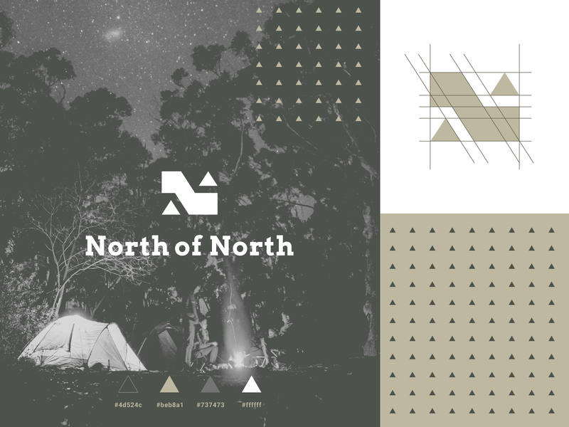 North Of North pt I outdoor logo outdoors logo outdoors outdoor camping camping logo north of north agrib branding identity mark n lettermark lettermark n n logo geometric logo up arrow up northern north