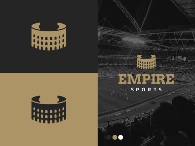 Unused Colosseum Ticket Logo for Empire Sports