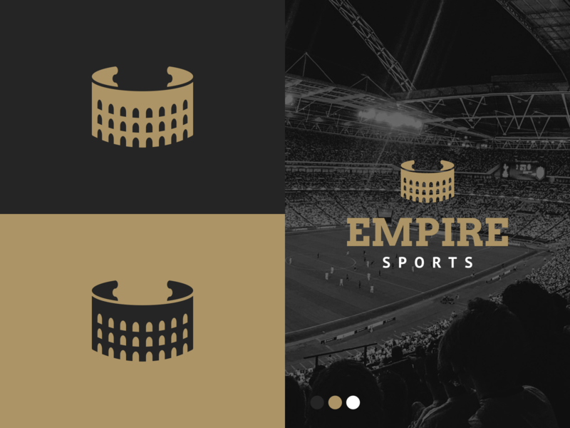 Unused Colosseum Ticket Logo for Empire Sports branding black and gold coliseum logo colosseum logo agrib sports logo entertainment logo wrapping ticket curling ticket curled ticket unused concept unused unused logo empire sports sports empire logo ticket coliseum colosseum