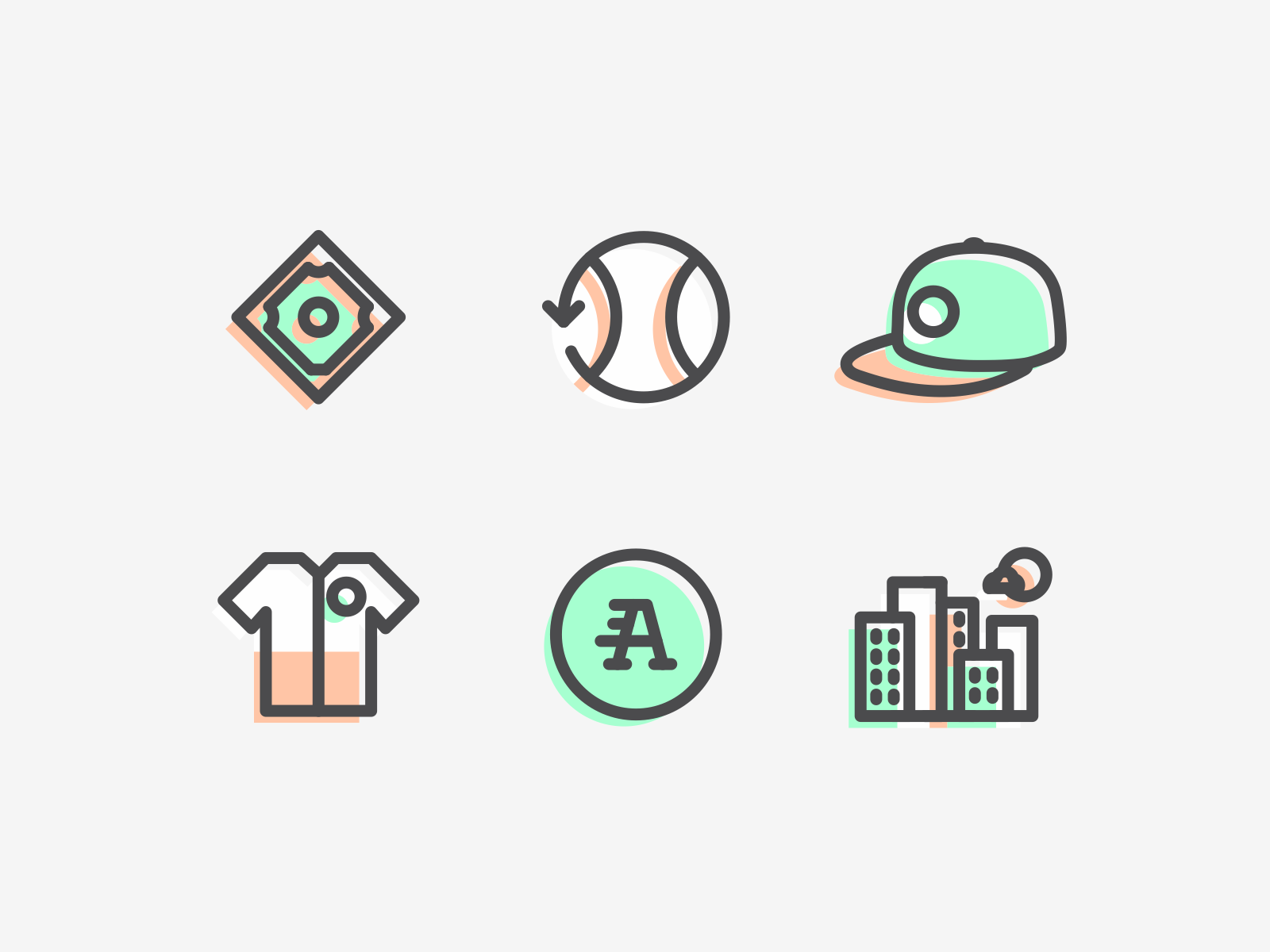 Baseball iconography color