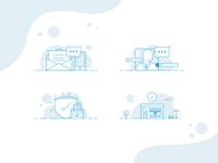 Insurance Illustration Set