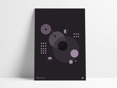 Poster 54 - Circular black series overlapping overlay round shapes spheres sphere poster art poster agrib purple transparency rings circles circular geometric abstract print dark